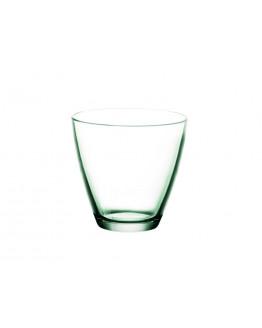 Water glass 26cl green glass 6pcs.