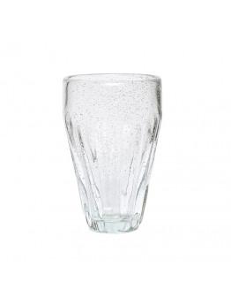 Drinkglass w/grooves 6x14cm clear