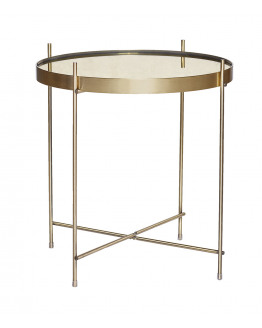Table round metal/mirror  43x45cm