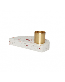 Candlestick Terrazzo 10x6x4cm