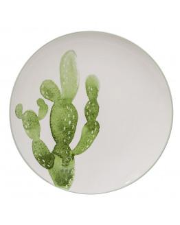 JADE PLATE CACTUS GREEN 25cm