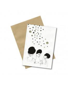 Postcard LADYDOTS