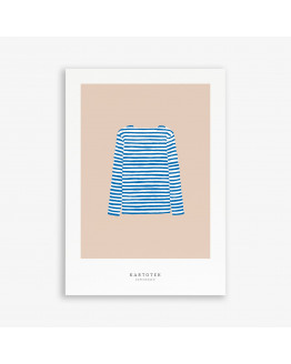 Greeting Card A5 Sweater Blue