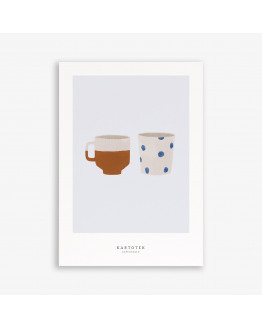 Greeting Card A5 Two Cups