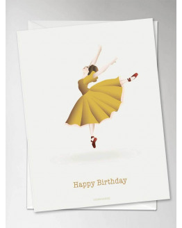 Happy Ballerina Greeting Card 10,5x15cm