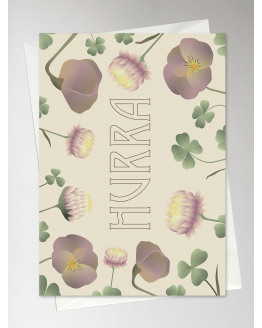 Hurra Flower Bouqet Greeting Card 10,5x15cm