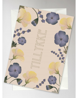 Tillykke Flower Bouquet Greeting Card 10,5x15cm