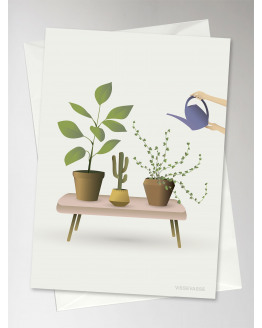 Growing Plants Greeting Card 10,5x15cm