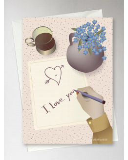 I Love You Note Greeting Card 15x21cm
