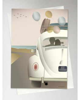 Just Married Greeting Card 15x21cm