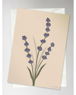 Lavender Nude Greeting Card 10,5x15cm