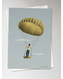 Man in the Sky Greeting Card 10,5x15cm