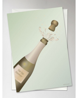 Sip Sip Hooray Greeting Card 10,5x15cm