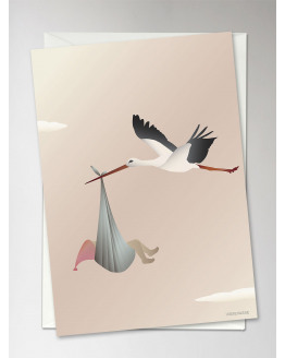 The Stork Rose Greeting Card 10,5x15cm