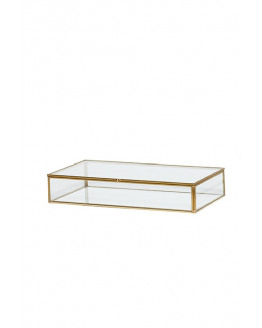 Glass Box brass/glass 36x21x9cm