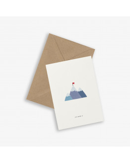 Greeting Card MOUNTAIN TOP