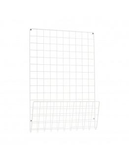 Noticeboard Mesh White 50x6 cm
