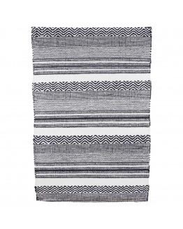 Rug Inka Black/White 70x180 cm