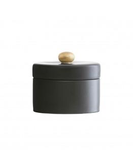 Sugar bowl w. lid Black