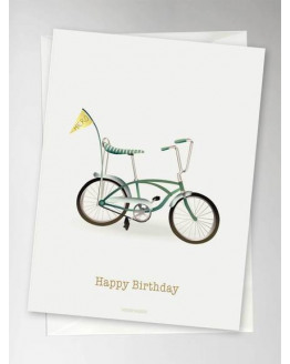 Happy Birthday Bicycle Greeting Card 10,5x15cm