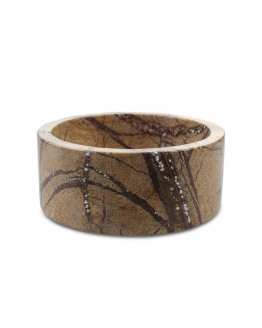 Bowl Marble Forest Brown 12,5x5cm