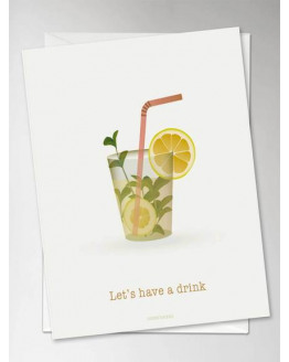 Let's Have a Drink Greeting Card 10,5x15cm