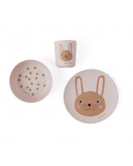 Rabbit Bamboo Tableware Set