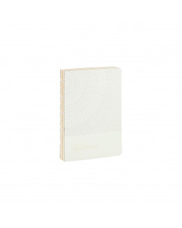Notebook Geometic Light Grey 13x18cm