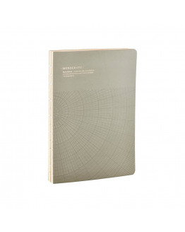 Notebook Geometic Grey/green 17,7x25,2cm
