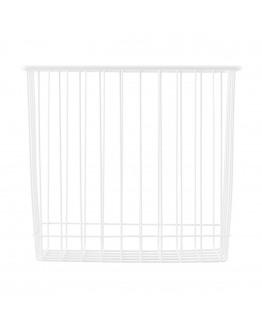 Basket Stak White 22x14cm H: 20cm