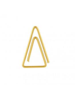 Clip Triangle brass 15 pcs./pck