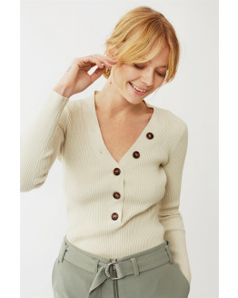 Miriam Button Sweater