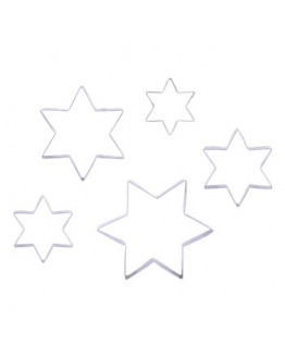 Cookie Cutter set of 5 sizes stars