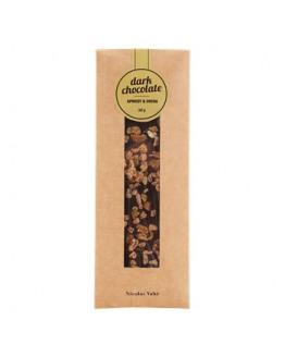 Dark Chocolate w/apricot & cocoa 50 gr.