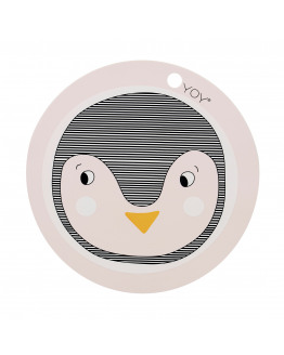PLACEMAT ROUND ROSE WITH PENGUIN 1100908