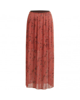 Pleated skirt in valley print