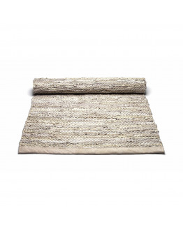 Leather rug Beige 60x90cm