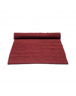 Cotton rug Rosewood Red 60x90cm