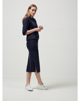 JULA MW SLIT SWEAT SKIRT
