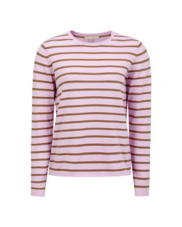 Zara O-neck Knit Roll Edge Stripe
