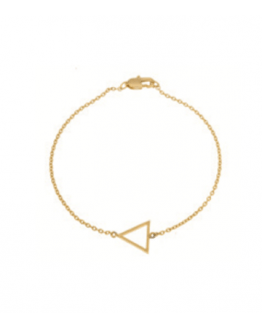 Small triangle bracelet 02-Gold plated