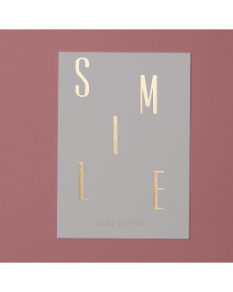 SMILE gold postcard 81631