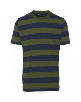 Striped O-Neck Tee - GOTS/Vegan