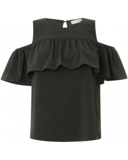 Top w. off-shoulder ruffle
