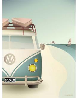 VW Camper Poster 30x40cm