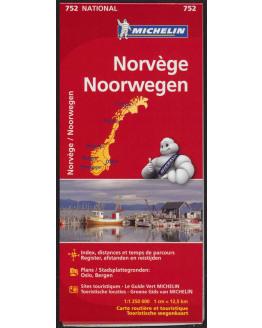 Michelin kaart Noorwegen 1/1,25M