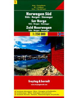 Freytag & Berndt  Noorwegen Zuid - Oslo-Bergen-Stavanger 1/250