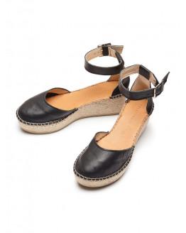 SFAbie Leather Wedge Sandal
