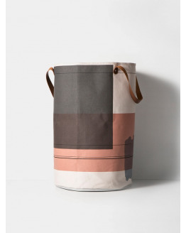COLOUR BLOCK LAUNDRY BASKET