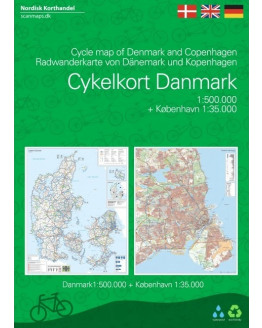 Denmark/ Copenhagen cycle map 1/500-1/35